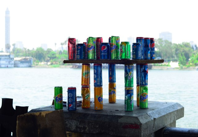 Soda Cans along the Nile!